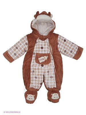 Комбинезон Happy Bear. Цвет: коричневый