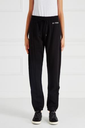 Хлопковые брюки Re/done. Цвет: черный
