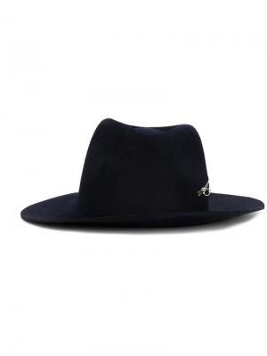 Шляпа Zip Fedora Larose Paris. Цвет: синий