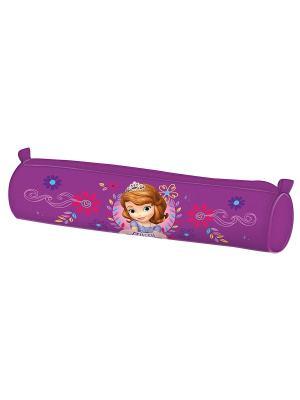 Пенал-тубус София Disney. Цвет: фиолетовый, розовый, коричневый