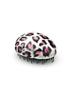 Распутывающая расческа Beautypedia Compact принт леопард. Цвет: черный,розовый,белый