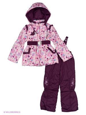 Комплект для девочки демисезонный /куртка, полукомбинезон/ Rusland. Цвет: персиковый