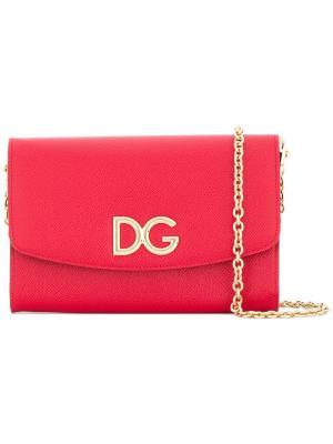 Сумка-кошелек через плечо Dolce & Gabbana. Цвет: красный