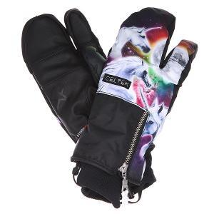 Варежки сноубордические женские  Hello Operator Unicorn Celtek. Цвет: черный,мультиколор