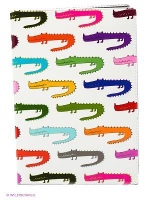 Обложка для автодокументов Цветные крокодилы Mitya Veselkov. Цвет: белый, зеленый, фиолетовый, красный