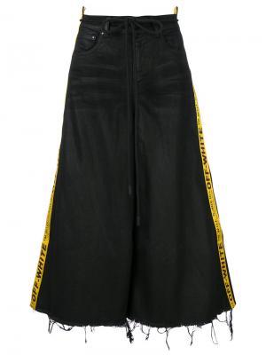 Укороченные брюки с лампасами Off-White. Цвет: чёрный