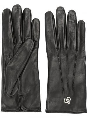 Классические перчатки Dsquared2. Цвет: чёрный