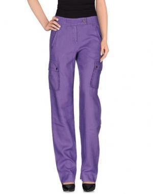 Повседневные брюки ANGELO MARANI. Цвет: фиолетовый