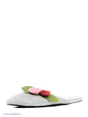 Тапочки Kapprise. Цвет: серый