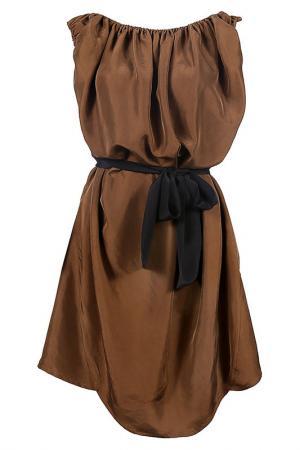 Платье Fermata. Цвет: коричневый