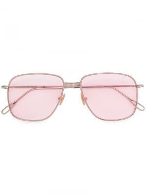 Солнцезащитные очки Helmut Kyme. Цвет: металлический