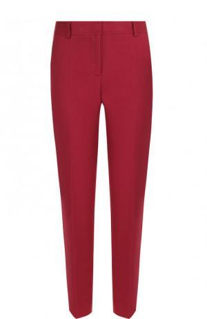 Укороченные однотонные брюки из хлопка M Missoni. Цвет: бордовый