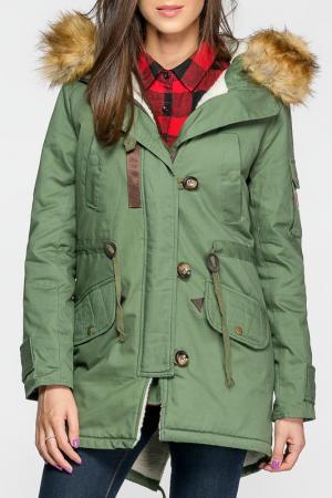 Куртка Joins. Цвет: зеленый