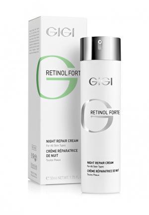 Крем для лица восстанавливающий ночной Gigi. Цвет: белый