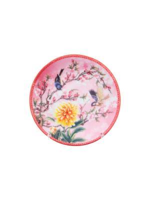 Тарелка декоративная Яблоня Elan Gallery. Цвет: розовый