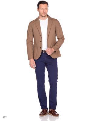 Пиджак хлопковый Пряник. Цвет: светло-коричневый