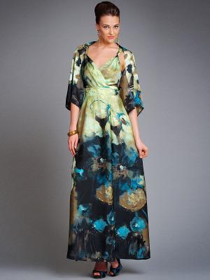 Платье Арт-Деко. Цвет: зеленый
