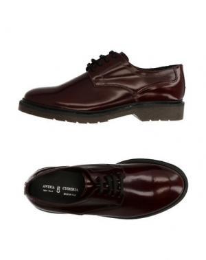 Обувь на шнурках ANTICA CUOIERIA. Цвет: красно-коричневый