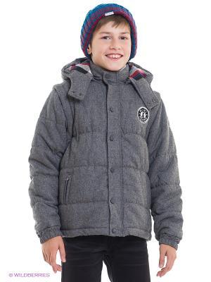 Куртка Mini Shatsu. Цвет: темно-серый