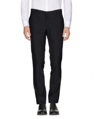 Повседневные брюки PAOLONI. Цвет: стальной серый
