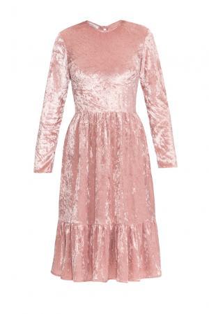 Бархатное платье 159379 Y.amelina. Цвет: розовый