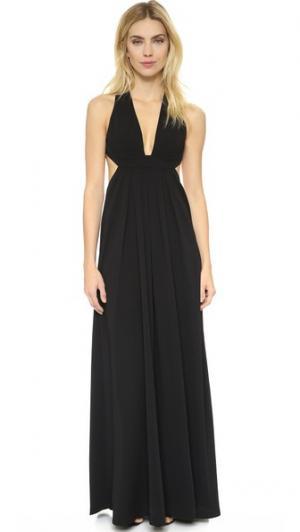 Вечернее платье с V-образной горловиной Jill Stuart. Цвет: голубой
