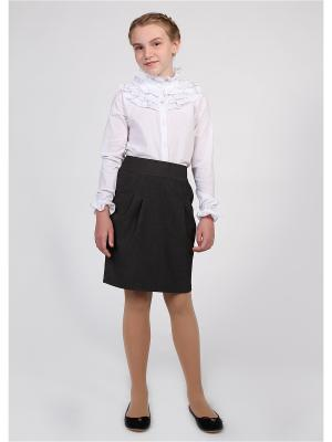 Блуза с рюшем 80 LVL. Цвет: белый