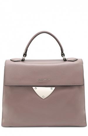 Кожаная сумка B14 Coccinelle. Цвет: фиолетовый