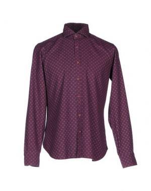 Джинсовая рубашка DANDYLIFE BY BARBA. Цвет: пурпурный