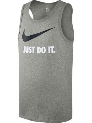 Майка TANK-NEW JDI SWOOSH Nike. Цвет: серый