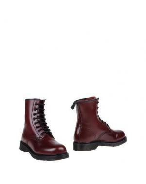 Полусапоги и высокие ботинки POLICE 883. Цвет: красно-коричневый
