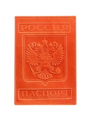 Обложка для паспорта OfficeSpace Office space. Цвет: рыжий