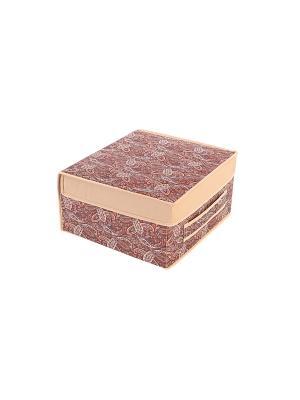 Кофр складной малый (жесткий) Русский Шик COFRET. Цвет: коричневый, бежевый