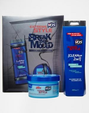 Два средства для укладки  Extreme Style Ultimate Prep - Синий VO5. Цвет: синий