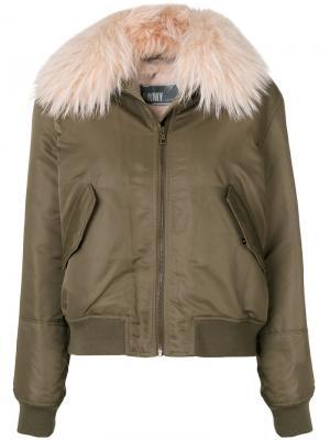 Куртка в стиле милитари Army Yves Salomon. Цвет: зелёный