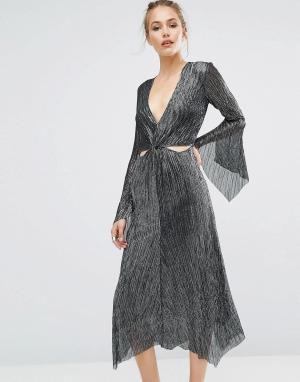 Bec & Bridge Платье Heather Mist. Цвет: серый