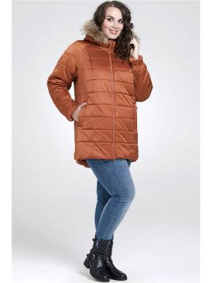 Куртка Modress. Цвет: бронзовый, рыжий