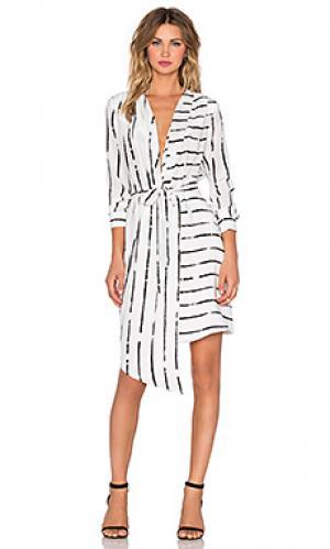 Платье с запахом saigon Viktoria + Woods. Цвет: белый
