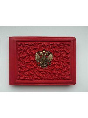 Обложка для удостоверения бизнес Кожевенный дворъ. Цвет: красный