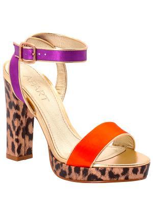 Босоножки APART. Цвет: коричневый, оранжевый, фиолетовый