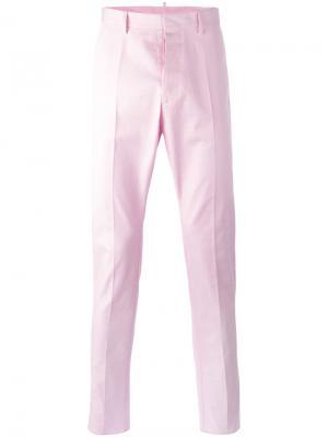 Классические брюки Dsquared2. Цвет: розовый и фиолетовый