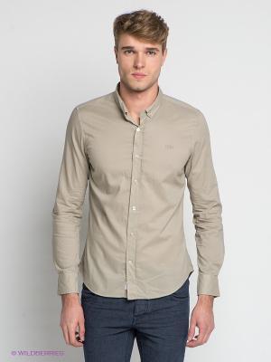 Рубашка Little Marcel. Цвет: бежевый