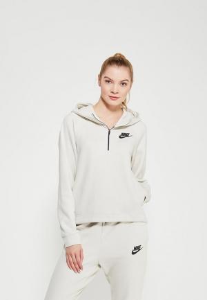 Толстовка Nike. Цвет: бежевый