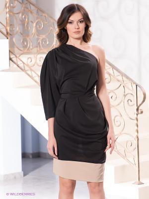 Платье Levall. Цвет: черный, бежевый