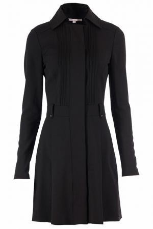 Деловое платье с длинным рукавом Patrizia Pepe. Цвет: черный