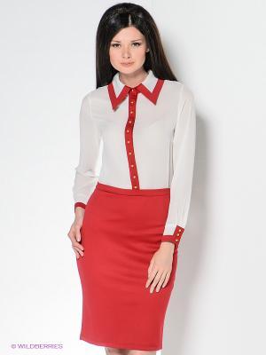Платье Enna Levoni. Цвет: темно-красный, красный, белый