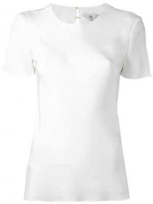 Блузка с короткими рукавами Tibi. Цвет: белый