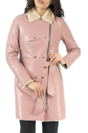 Дубленка ALIANCE FUR. Цвет: розовый антик