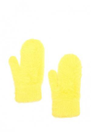 Варежки Befree. Цвет: желтый