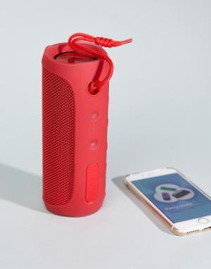 JBL Красный Bluetooth-динамик с 12 часами беспрерывной работы Flip 4. Цвет: мульти